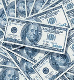 One hundred dollar. A nice 100 hundred bills background Royalty Free Stock Photography