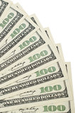 One hundred dollar background Stock Photo