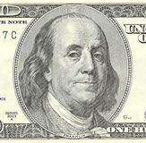 One hundred dollar banknote. Stock Photo