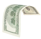 One hundred dollar banknote with clipping path Stock Photography