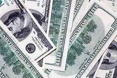 One hundred dollar banknotes background Stock Photography