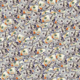One hundred dollar banknotes background. Money Royalty Free Stock Photography