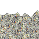 One hundred dollar banknotes background. Money Royalty Free Stock Images