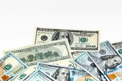 One Hundred Dollar Banknotes. Dollars Closeup Concept. American stock photos