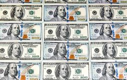 One Hundred Dollar Banknotes. Dollars Closeup Concept. American royalty free stock image