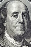 One Hundred Dollar Bill. Closeup image of Ben Franklin on the one hundred dollar bill stock image