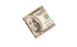One hundred dollar bill. Isolated Stock Photos