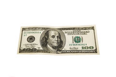 ONE HUNDRED DOLLAR BILL Royalty Free Stock Photo