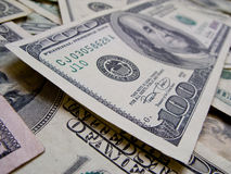 One hundred dollar bill close up. 2 Stock Images