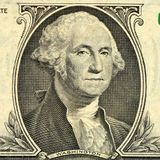 One hundred dollar bill close up. Money. Background royalty free illustration