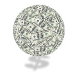 One hundred dollar bill globe Royalty Free Stock Photo