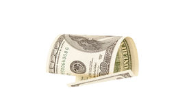 One hundred dollar bill. Isolated Stock Images