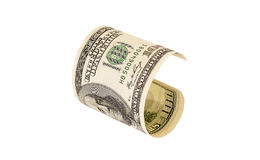 One hundred dollar bill, isolated Stock Photography