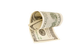 One hundred dollar bill, isolated.  Royalty Free Stock Image