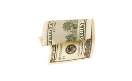 One hundred dollar bill, isolated Royalty Free Stock Photos
