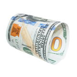 One hundred dollar bill isolated Stock Photo