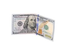 One hundred dollar bill. Royalty Free Stock Photos