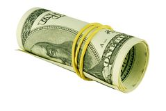 One Hundred Dollar Bill Roll Royalty Free Stock Photos