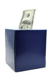 One Hundred Dollar Bill in Tissue Box Royalty Free Stock Photo