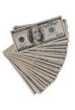 One hundred dollar bills Stock Photos