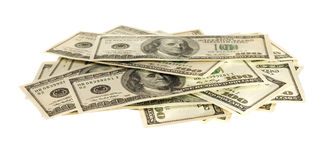 One hundred dollar bills Royalty Free Stock Photo