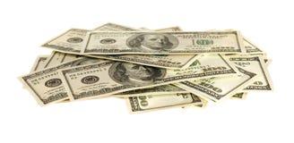 One hundred dollar bills Royalty Free Stock Photo