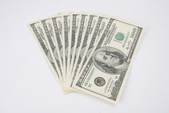 One Hundred Dollar Bills. Fan of US Currency - One Hundred Dollar Bills Royalty Free Stock Image