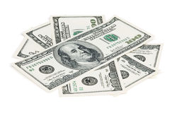 One hundred dollar bills Royalty Free Stock Photography