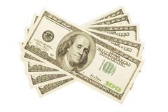 One hundred dollar bills Royalty Free Stock Image