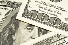 One hundred dollar bills background Royalty Free Stock Photography