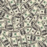 One hundred dollar bills background Royalty Free Stock Images