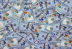 One Hundred Dollar Bills Stock Image