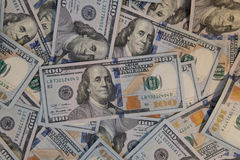 One Hundred Dollar Bills Stock Images