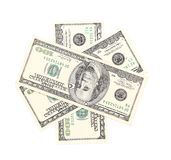 One hundred dollar greenbacks. Royalty Free Stock Image