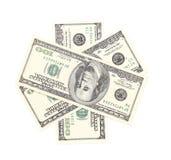 One hundred dollar greenbacks. Royalty Free Stock Image