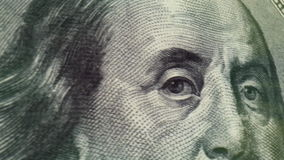 One Hundred Dollar Macro Close-up Pan. Super close-up macro DOF animation of real 100 dollar bill. HD 1080 stock video