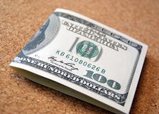 One hundred dollar note Stock Photos