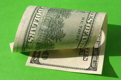 One hundred dollar note Royalty Free Stock Photography