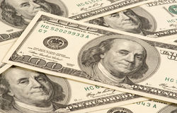 One hundred dollar's banknote Stock Image