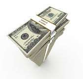 One Hundred Dollar Stack Royalty Free Stock Photos