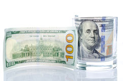 One hundred dollars  as background. Royalty Free Stock Photo