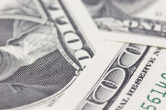 One hundred dollars background Stock Image