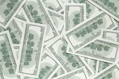 One hundred dollars background. back side of banknotes Royalty Free Stock Image