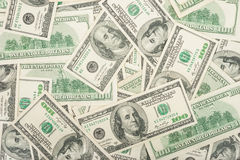 One hundred dollars background Stock Images