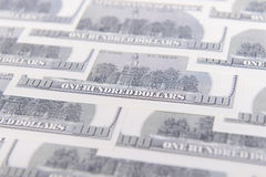 One hundred dollars background Royalty Free Stock Photography