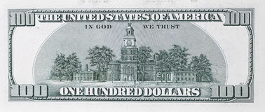 One hundred dollars banknote Stock Image