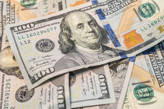 One hundred dollars banknotes. One hundred dollars banknotes as background Stock Images