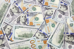 One hundred dollars banknotes background. (new 2013 edition Stock Photos