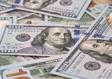 One hundred dollars banknotes Royalty Free Stock Image