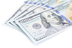 One hundred dollars banknotes Royalty Free Stock Images
